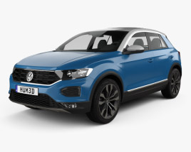 3D model of Volkswagen T-Roc 2017