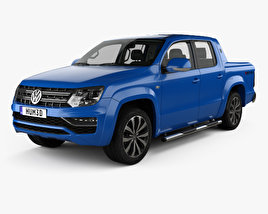 3D model of Volkswagen Amarok Crew Cab Aventura with HQ interior 2016