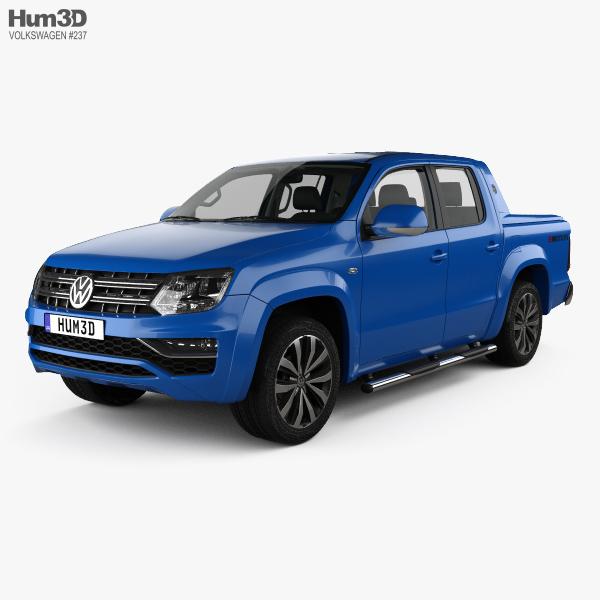 3D model of Volkswagen Amarok Crew Cab Aventura with HQ interior 2016