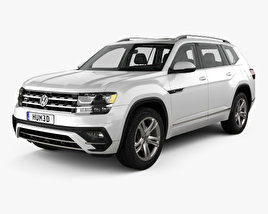 3D model of Volkswagen Atlas R Line with HQ interior 2017