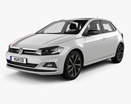 3D model of Volkswagen Polo Beats with HQ interior 2017
