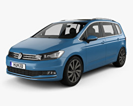 3D model of Volkswagen Touran with HQ interior 2015