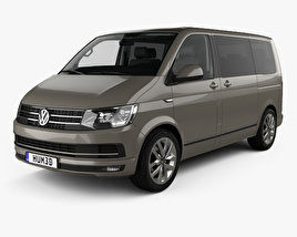 3D model of Volkswagen Transporter (T6) Multivan with HQ interior 2016