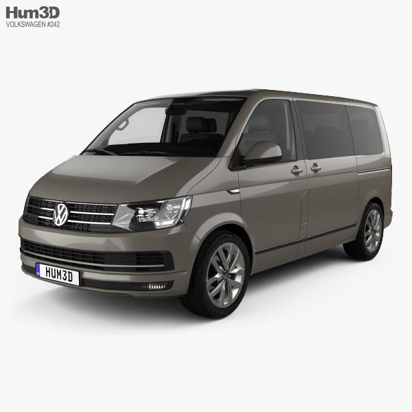 Volkswagen Transporter (T6) Multivan with HQ interior 2016 3D model