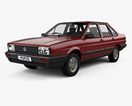 3D model of Volkswagen Santana CN-spec 1985