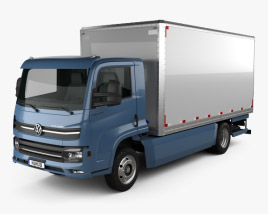3D model of Volkswagen e-Delivery Chassis Truck 2017