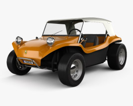 3D model of Volkswagen Buggy Meyers Manx 1965