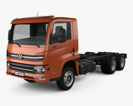 3D model of Volkswagen Delivery (13-180) Chassis Truck 3-axle 2017