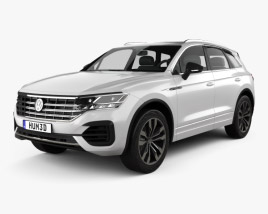 3D model of Volkswagen Touareg R-Line 2018