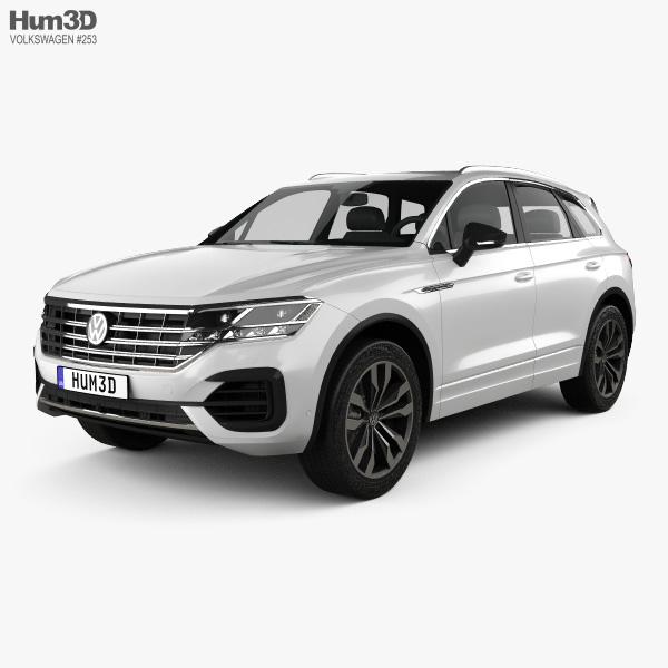 3D model of Volkswagen Touareg R-Line 2018