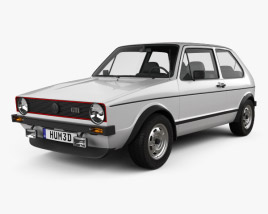 3D model of Volkswagen Golf GTI 1975