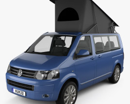 3D model of Volkswagen Transporter California 2011