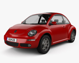 3D model of Volkswagen Beetle coupe 2005
