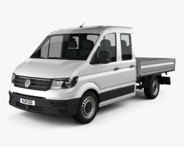 Volkswagen Crafter Double Cab Dropside 2017 3D model