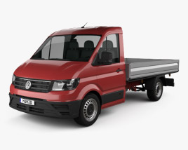 3D model of Volkswagen Crafter Single Cab Dropside 2017