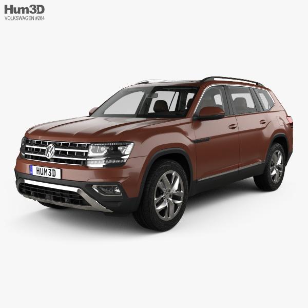 Volkswagen Teramont with HQ interior 2017 3D model