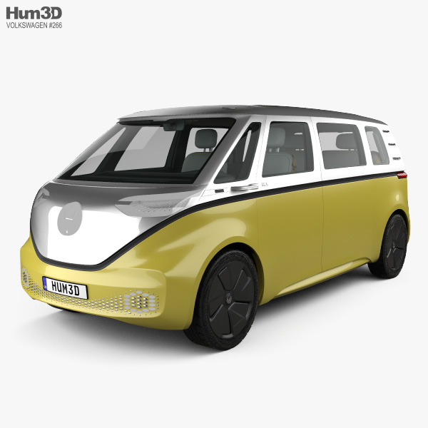 3D model of Volkswagen ID Buzz with HQ interior 2017