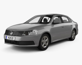 3D model of Volkswagen Lavida sedan with HQ interior 2015
