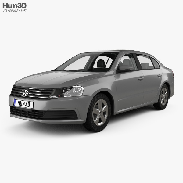 Volkswagen Lavida sedan with HQ interior 2015 3D model