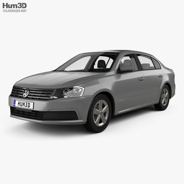 3D model of Volkswagen Lavida sedan with HQ interior 2015