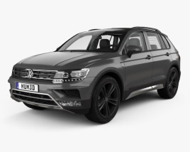 3D model of Volkswagen Tiguan Off-road with HQ interior 2015