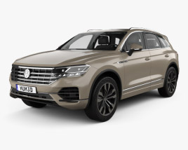 3D model of Volkswagen Touareg Elegance with HQ interior 2018