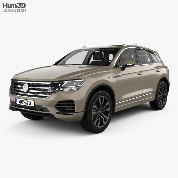 3D model of Volkswagen Touareg Elegance with HQ interior 2018