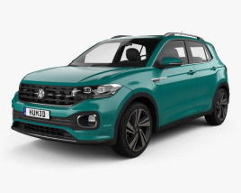 3D model of Volkswagen T-Cross R-Line 2019