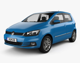 3D model of Volkswagen Fox Highline 2014