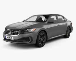 3D model of Volkswagen Passat R-Line 2019