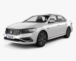 3D model of Volkswagen Passat PHEV CN-spec 2019