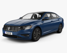 3D model of Volkswagen Jetta SEL Premium US-spec 2018