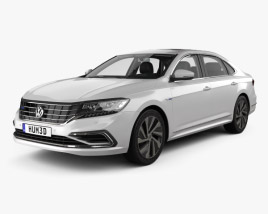 3D model of Volkswagen Passat PHEV CN-spec with HQ interior 2019