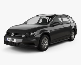 3D model of Volkswagen Golf variant Comfortline 2017