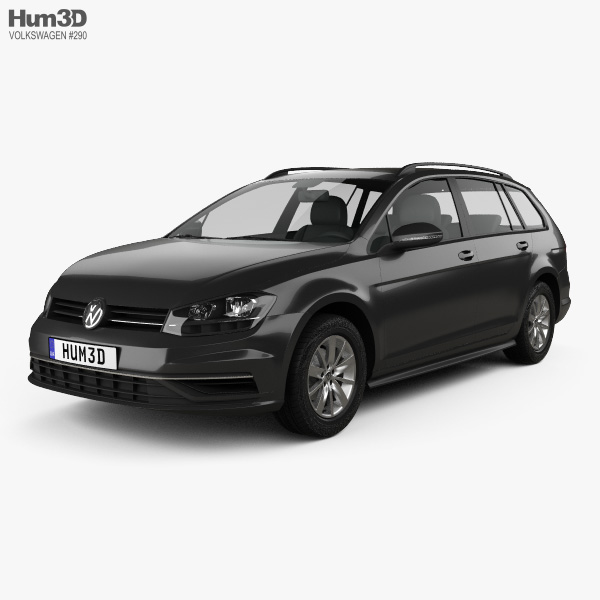 Volkswagen Golf variant Comfortline 2017 3D model