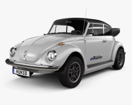 3D model of Volkswagen e-Beetle 2019
