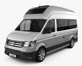 3D model of Volkswagen Crafter Grand California 600 2019