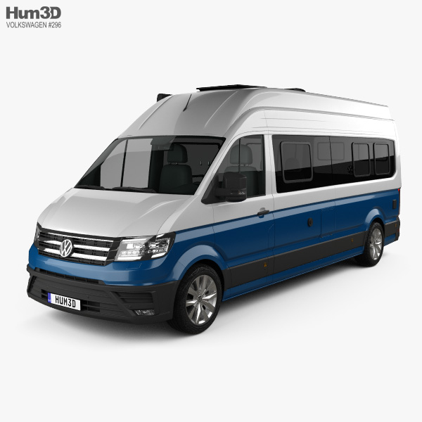 3D model of Volkswagen Crafter Grand California 680 2019