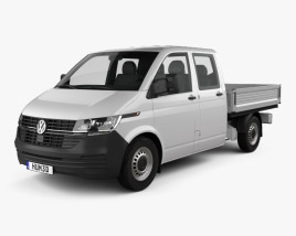 3D model of Volkswagen Transporter Double Cab Pickup 2019