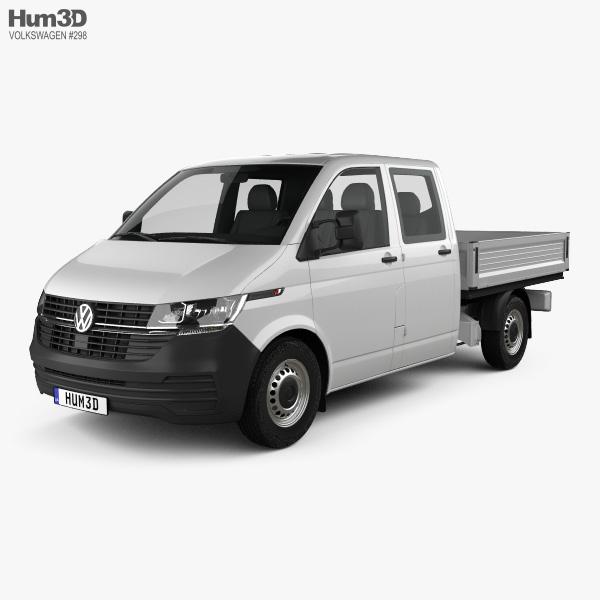 Volkswagen Transporter Double Cab Pickup 2019 3D model