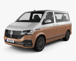3D model of Volkswagen Transporter Multivan Bulli 2019