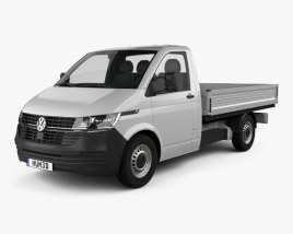 3D model of Volkswagen Transporter Single Cab Pickup L2 2019