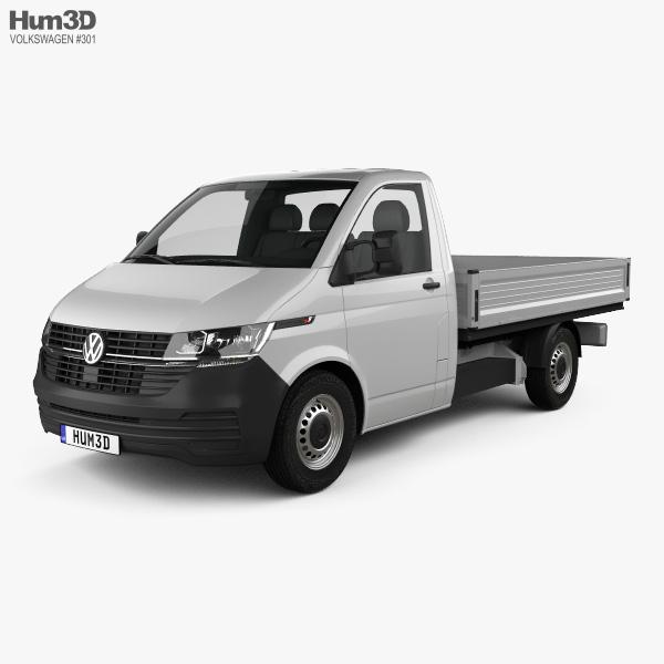 Volkswagen Transporter Single Cab Pickup L2 2019 3D model