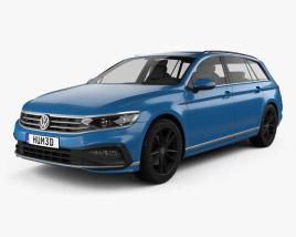 3D model of Volkswagen Passat variant R-line 2019