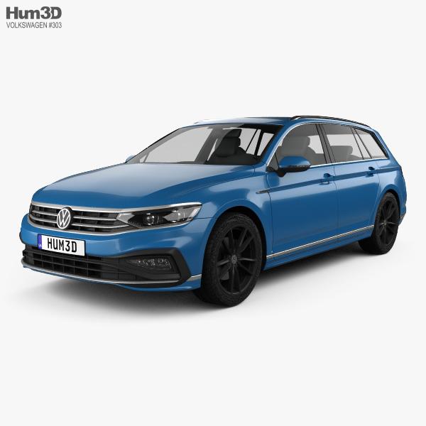 Volkswagen Passat variant R-line 2019 3D model