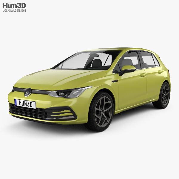 Volkswagen Golf Style 5-door hatchback 2020 3D model