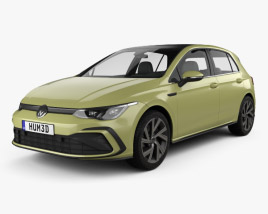 3D model of Volkswagen Golf R-Line 5-door hatchback 2020