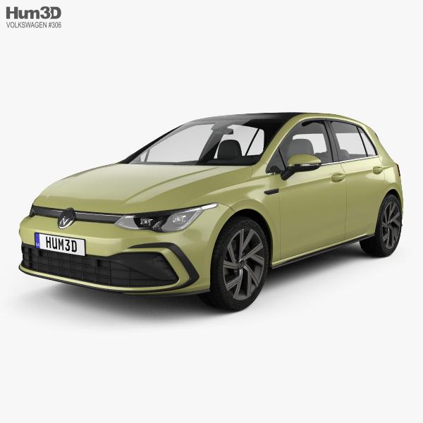 Volkswagen Golf R-Line 5-door hatchback 2020 3D model