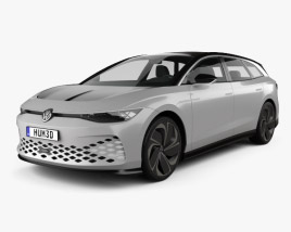 3D model of Volkswagen ID Space Vizzion 2019