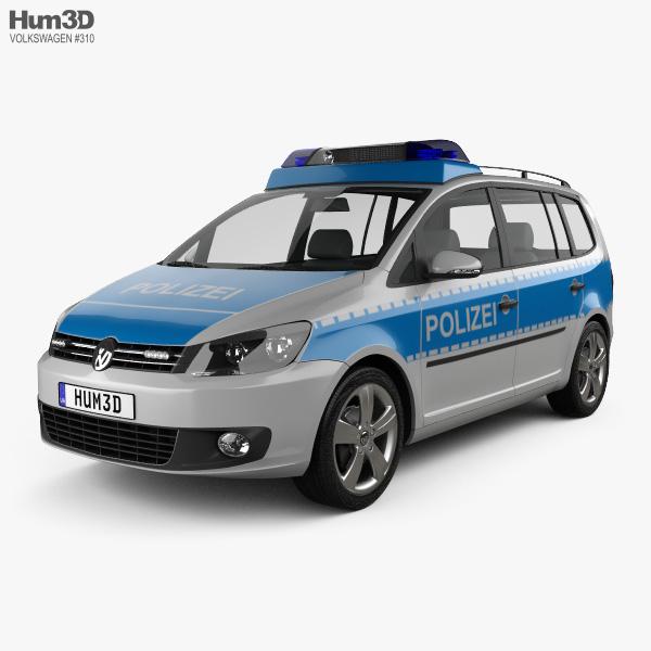 3D model of Volkswagen Touran Police Germany 2011